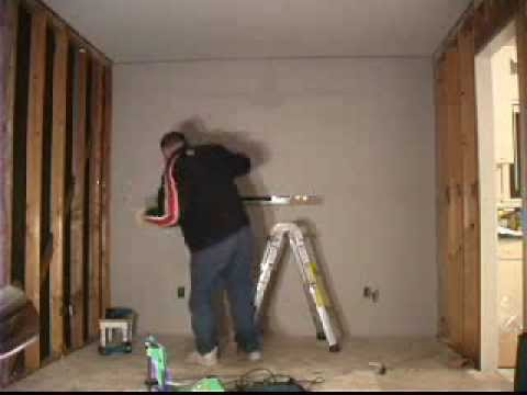 Putting Up The Wall. How to Drywall Sheetrock Gypsum - YouTube