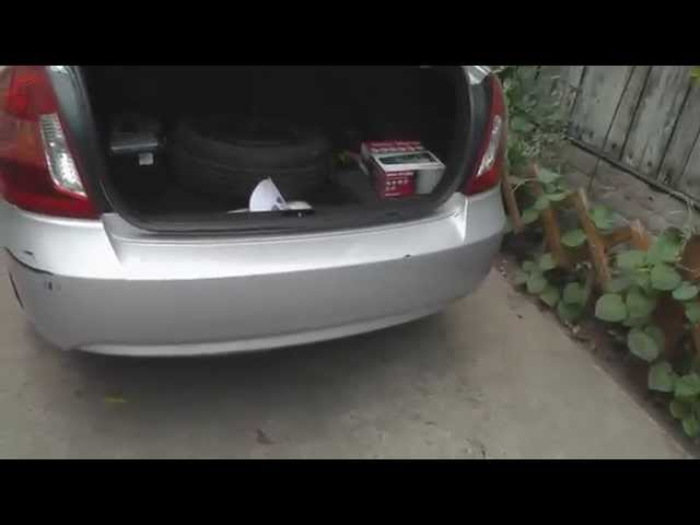 Hyundai Accent снятие бампера, removal Hyundai Accent bumper
