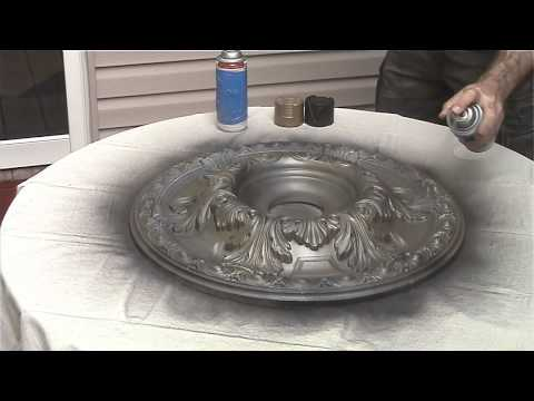 painting-a-ceiling-medallion