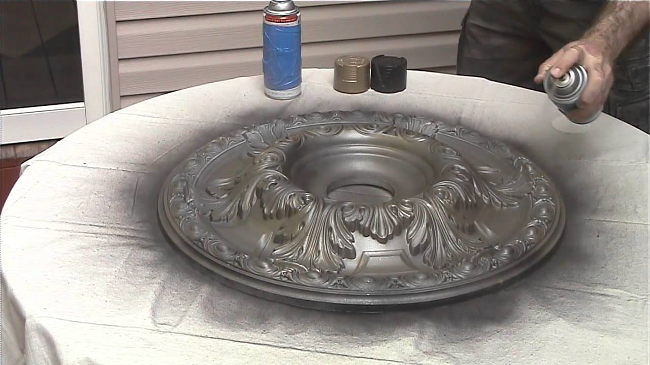 Painting A Ceiling Medallion Youtube