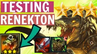 RENEKTON ⭐⭐⭐ TEST COMP - TFT Teamfight Tactics Cloud Blademaster Strategy Build Guide Set 2