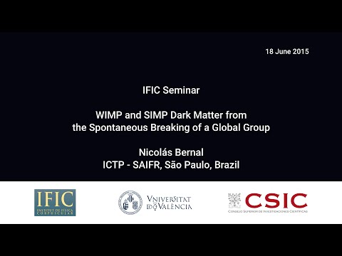 Nicolas Bernal: WIMP and SIMP Dark Matter from the Spontaneous Breaking of a Global Group