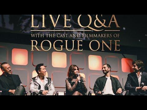 Rogue One: A Star Wars Story LIVE Cast Twitter Q&A FULL Panel Dec 2 2016