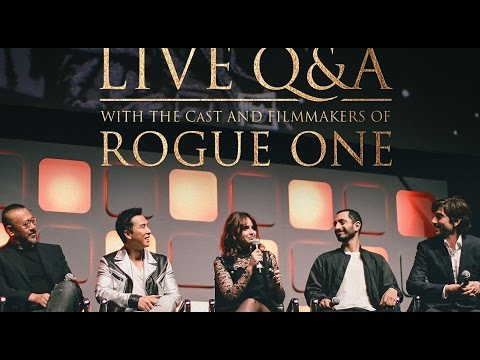 Rogue One: A Star Wars Story LIVE Cast Twitter Q&A FULL Panel Dec 2 2016