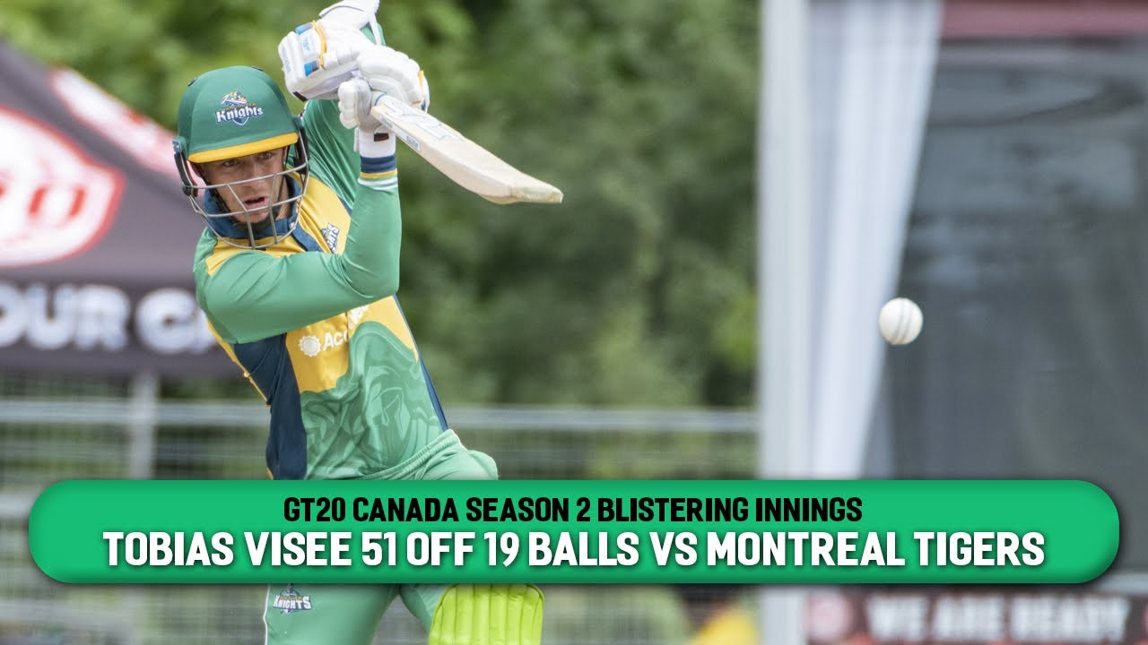 GT20 Canada Season 2 Blistering Innings | Tobias Visee 51 off 19 balls vs Montreal Tigers