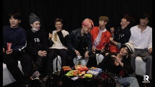 HALSEY crashes our BTS interview to give the scoop on their BBMAs performance!