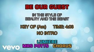 Ensemble - Beauty and the Beast - Be Our Guest (Karaoke)