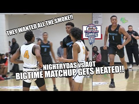 Nightrydas vs AOT GETS HEATED!! AAU SUPER TEAM LOADED With Talent!! | The Tip Off Classic