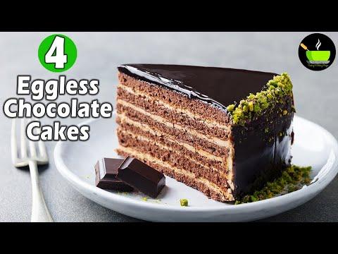4-eggless-chocolate-cake-recipes|-chocolate-mirror-glaze-cake-|-chocolate-truffle|-chocolate-brownie