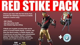 RED STRIKE STARTER PACK GAMEPLAY (Fortnite Season X)