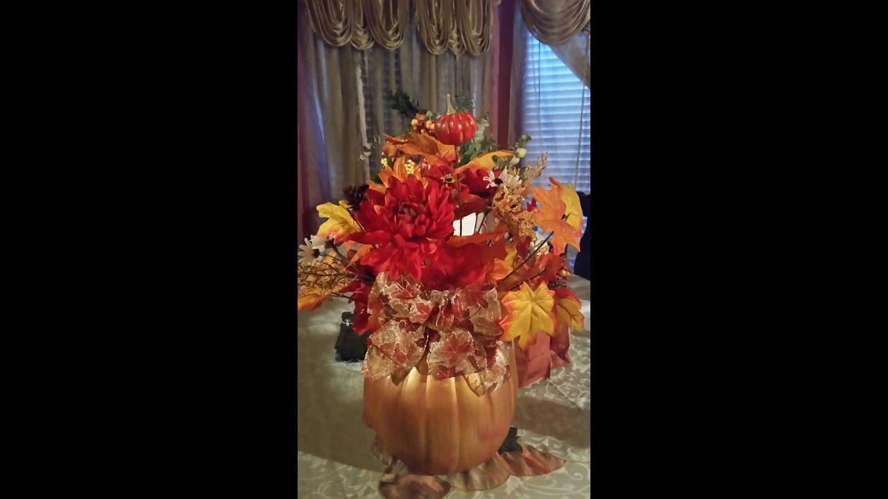 Pumpkin Floral Arrangement With Wire Center My First Circuit Bending Cyrille Martraire Diy Youtube Rh Com Arrangements Mini Pumpkins Decorating