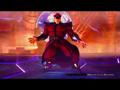 Ryu vs M. Bison - Street Fighter V  Story Mode final boss fight
