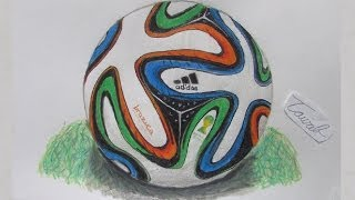Speed Drawing Realistic Brazuca (Fifa World Cup 2014 Ball)