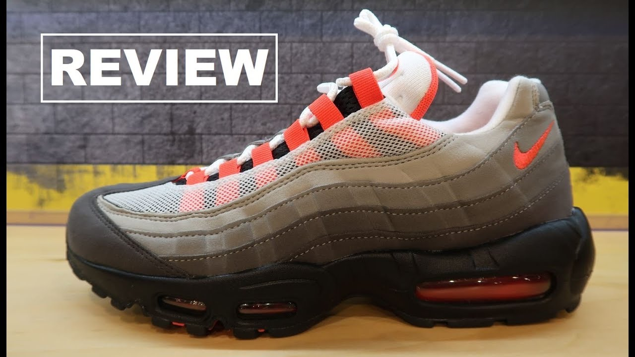 factory outlets top design top brands NIKE AIR MAX 95 SOLAR RED 2018 RETRO SHOE REVIEW + HISTORY