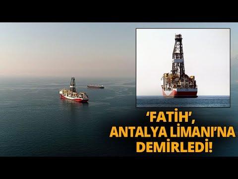 Türkiye'nin Doğalgaz ve Petrol Arama Gemisi 'Fatih' Akdeniz'de