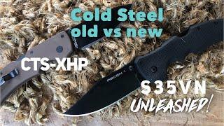 Cold Steel - XHP vs S35VN - Edge Retention Comparison, also unleashed