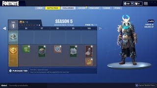 Fortnite Season 5 Battle Pass! All Skins, Emotes, Cosmetics, Trails & More!