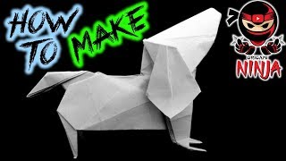 How To Make: Origami Dog Dachshund (fuchimoto Muneji)