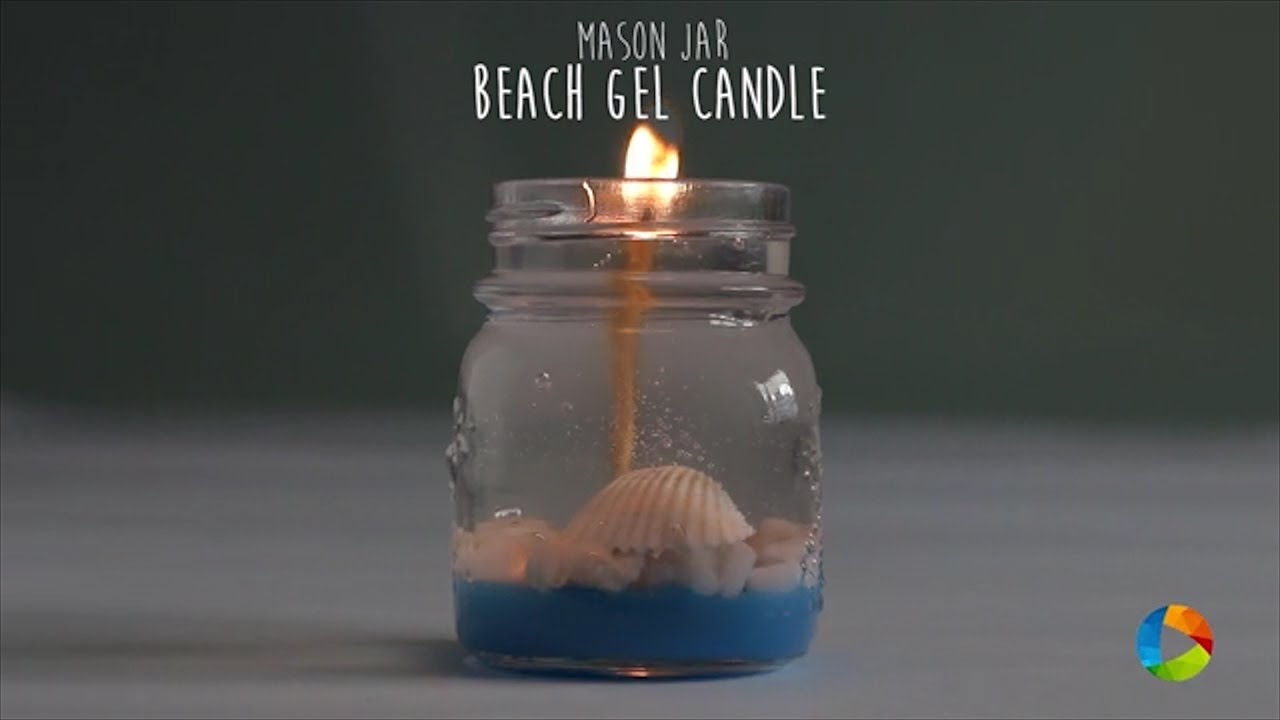 DIY: Beach Gel Candle (Mason Jar)