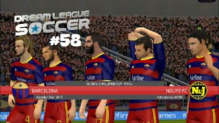 Global Challenge Cup Final VS Barcelona : Dream League Soccer 16 #58