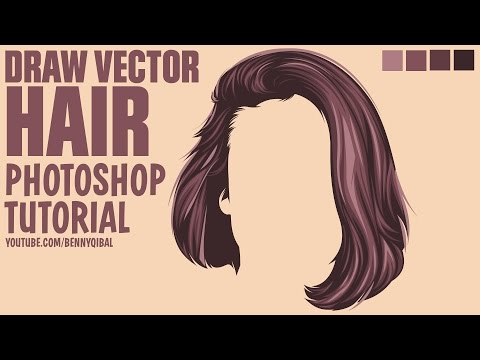 Draw Vector Hair Photoshop Tutorial thumbnail