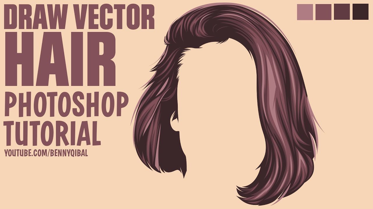 Draw Vector Hair Photoshop Tutorial - YouTube