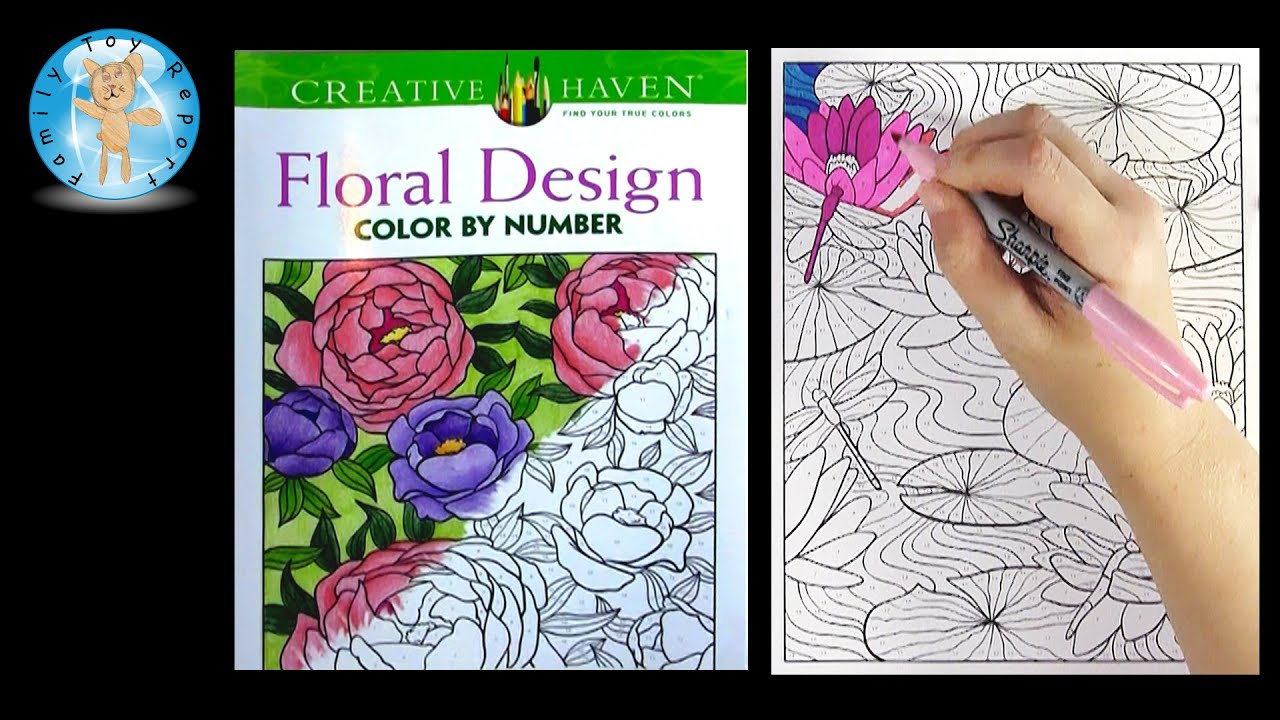 Creative Haven Floral Design Adult Coloring Book Review Beautiful Flowers