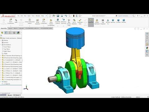 Solidworks Tutorial | Slider Crank mechanism in Solidworks