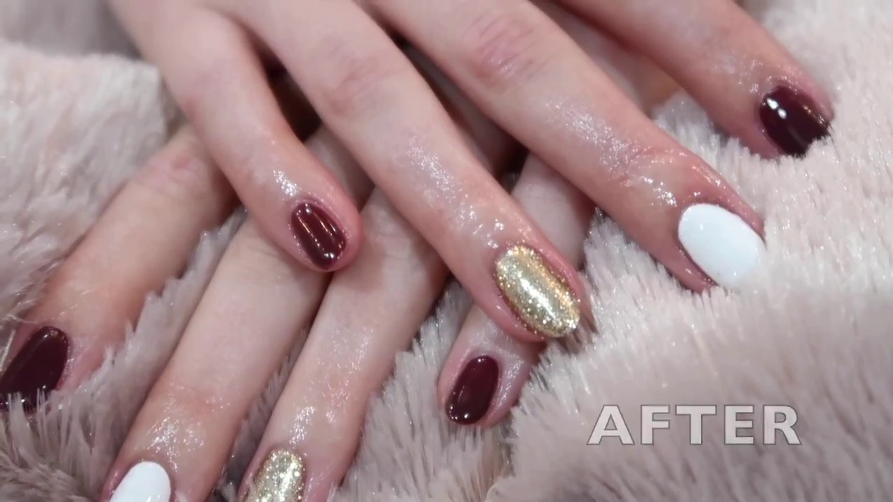 Perfect Fall Gel Manicure! - YouTube
