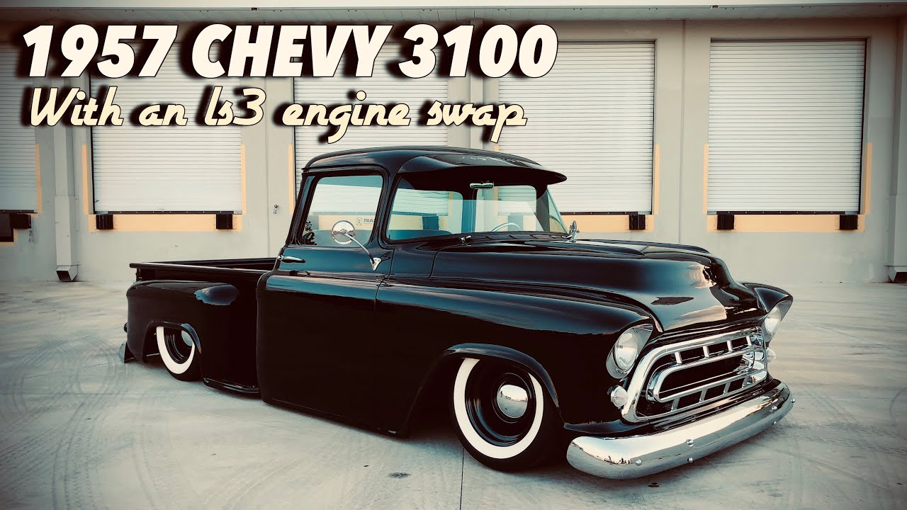 1957 Chevy 3100 With a Modern Touch   Accuair E-Level