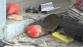 Детонация баллона с газом в Симферополе на заправке ГБО!