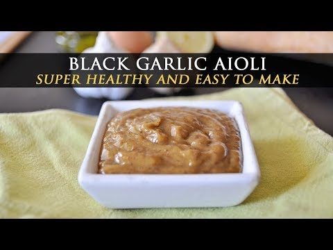 How to Make Black Garlic Aioli - Black Garlic Mayo Recipe
