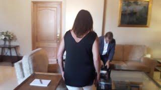 Francina Armengol recibe en audiencia al rector de la UIB, Llorenç Huguet