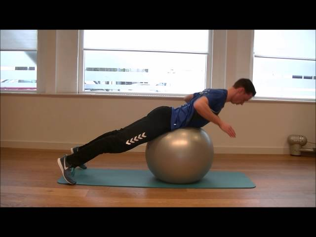 Swiss Ball Back Extension Basic