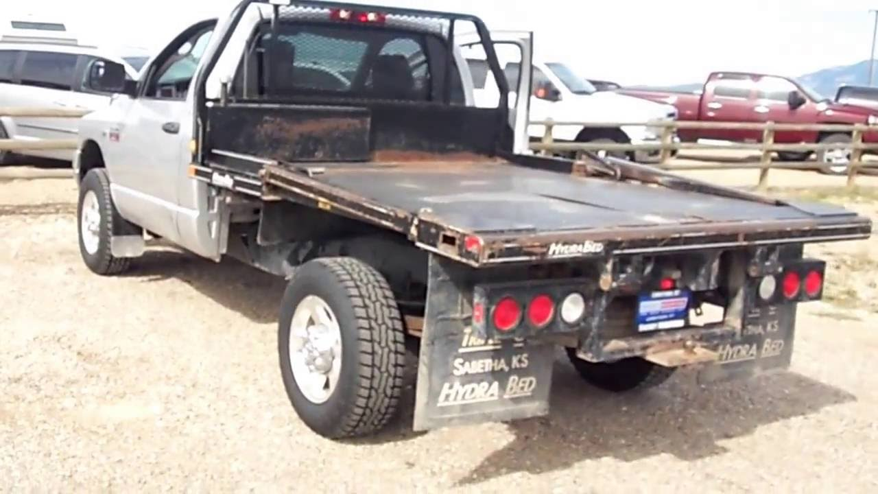 D1638b 2008 Dodge Manual Hydra Bed Feed Truck Youtube
