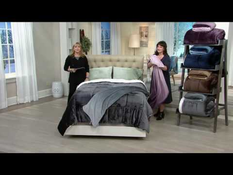 "London Fog Supreme Velvet Comforter with 50""x60"" Throw on QVC"