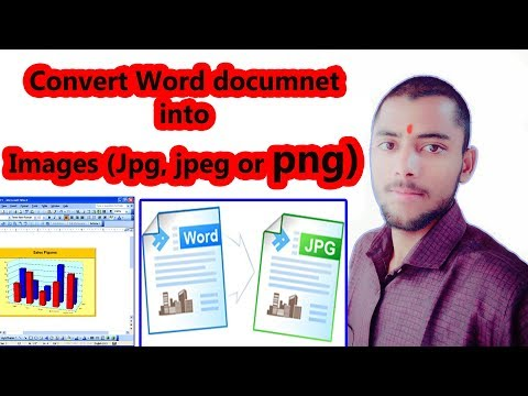 How To Convert Word Document Into Images( Jpg, Jpeg And Png)