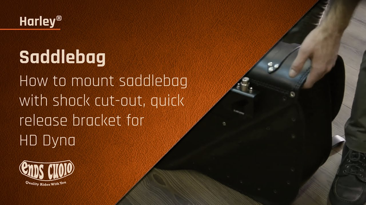 How to mount saddlebag with shock cut-out, quick release bracket for HD Dyna