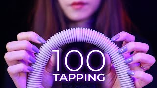 ASMR 100 Tapping Sounds in 10 Minutes (No Talking)