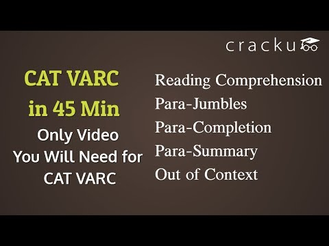 Complete CAT VARC Revision