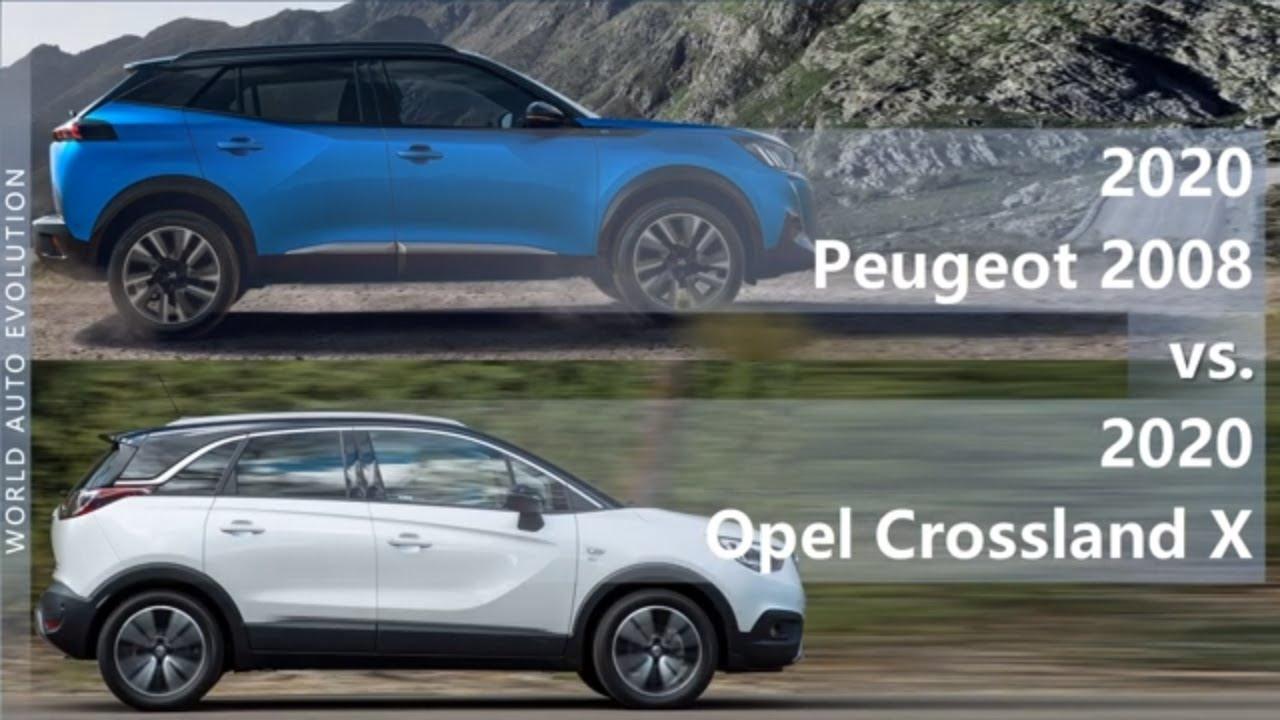 2020 Peugeot 2008 Vs 2020 Opel Crossland X Technical Comparison Youtube