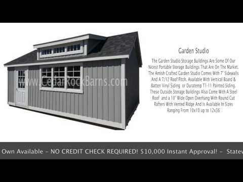 Vinyl Garden Studio Portable Building – Storage Sheds