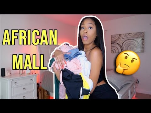 AFRICAN MALL TRY-ON HAUL & GIVEAWAY
