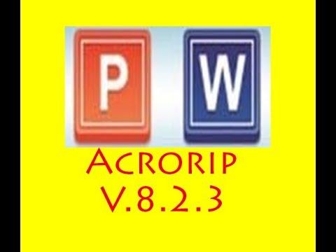 AcroRip V8.2.3 64 bit cara cepat Install dan setting AcroRip Template
