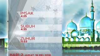 JADWAL IMSAKIYAH 1439 H JUMAT 18 MEI 2018