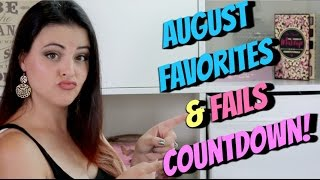 August Makeup Favorites and FAILS! JenLuv's Countdown! #notsponsored