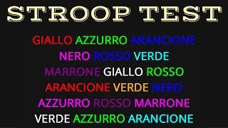 Test di Stroop Online (ITA) - Velocità di Reazione e Stroop Effect