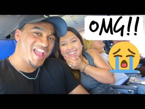 FIRST TIME ON A PLANE. FREAKED OUT!!!!! • VLOG 46 •