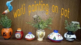 Simple and easy warli pot painting