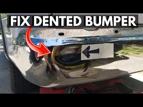 How To Fix a Dented Chrome Bumper. Repairing Dented/Pushed in Bumper -Jonny DIY
